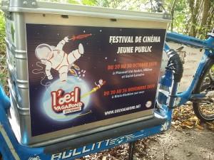 Campagne d'affichage pour le Festival de Cinéma Jeune Public l'Oeil Vagabond en parallèle de la livraison des programmes sur l'ensemble des écoles primaires et maternelles de St-Brieuc et sa couronne